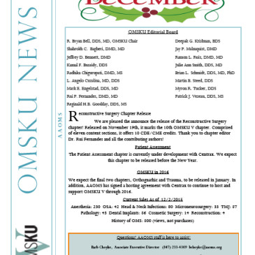 OMS Knowledge Update Chapter: Reconstructive Surgery Chapter Release